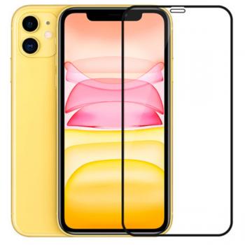 Защитное стекло 9D для iPhone 11, черный