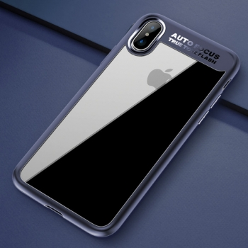 Чехол накладка Rock Clarity Series для iPhone X  (синий)