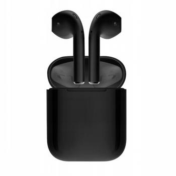 Stereo Bluetooth гарнитура Беспроводные стерео наушники i12 TWS Bluetooth 5.0, черные