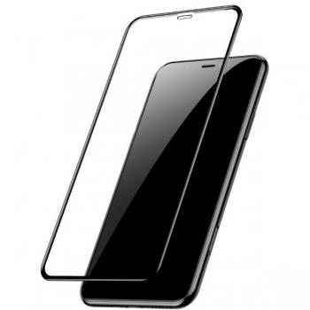 Защитное стекло 9D для iPhone XS Max, черный