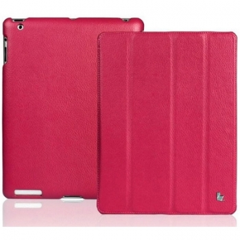 Чехол для iPad 2 Jison Case Smart Leather малиновый