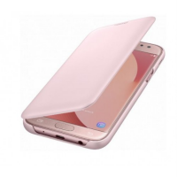 Чехол Samsung Wallet Cover J7 (2017) розовый (EF-WJ730CPEGRU)