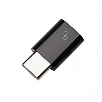 Адаптер Xiaomi micro USB на Type-C (черный)