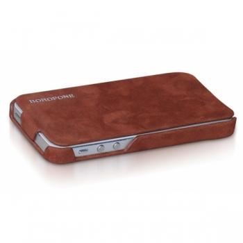 Чехол Borofone для iPhone 5 Shark flip Leather Case (Brown)