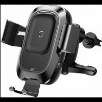 Держатель на воздуховод с беспроводной зарядкой Baseus Smart Vehicle Bracket Wireless Charger  (WXZN-01)