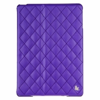 Jisoncase Quilted Leather Smart Case для iPad Air (стеганый) фиолетовый