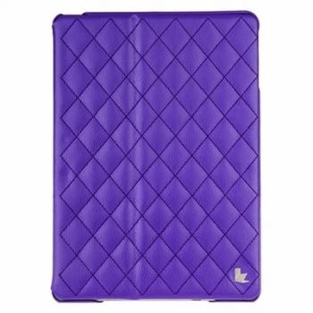 Чехол Jisoncase Quilted Leather Smart Case для iPad Air (стеганый) фиолетовый