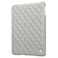Jisoncase Quilted Leather Smart Case для iPad Air (стеганый) белый