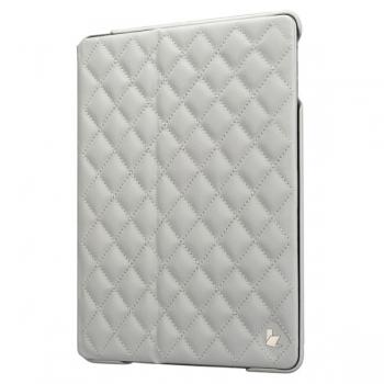 "Jisoncase Quilted Leather Smart Case для iPad 9.7"" 2018 года (6-е поколение) стеганый белый"