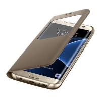 Чехол для Samsung Galaxy S7 Edge S View Cover EF-CG935PFEGRU золотой