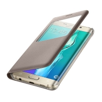 Чехол Samsung S View Cover EF-CG928PFEGRU для Galaxy S6 Edge Plus (золотой)