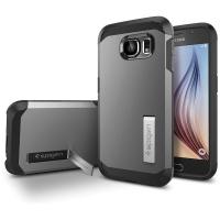 Чехол Spigen Tough Armor SGP11337 для Samsung Galaxy S6 (темно-серый)