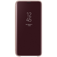 Чехол-книжка Samsung EF-ZG960CFEGRU Clear View Standing Cover для Galaxy S9, золотой