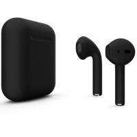 Наушники Apple AirPods 2 с беспроводной зарядкой Color цветные, черный