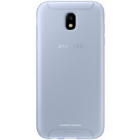 Чехол-накладка Samsung Jelly Cover для Galaxy J3 (2017) голубой (EF-AJ330TLEGRU)