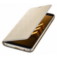 Чехол-книжка Samsung Neon Flip Cover для A8+ 2018 года,золотистый (EF-FA730PFEGRU)