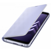 Чехол-книжка Samsung Neon Flip Cover для A8+ 2018 года,фиолетовый ( EF-FA730PVEGRU)
