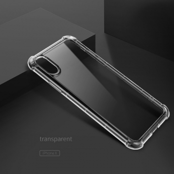 Чехол накладка Rock Fence Pro Series  для iPhone X  (прозрачный)