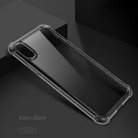 Чехол накладка Rock Fence Pro Series  для iPhone X  (прозрачно-черный)