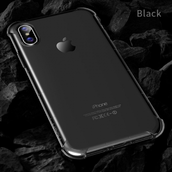 Чехол накладка Rock Fence S  для iPhone X  (прозрачно-черный)
