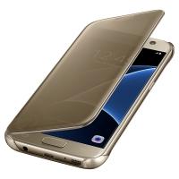 Чехол Samsung Clear View Cover EF-ZG930CFEGRU для Galaxy S7 золотой