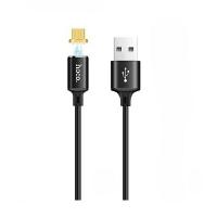 Кабель HOCO U28 Magnetic Micro-USB (1м), черный