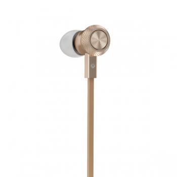 Наушники с микрофоном Hoco M7 Universal Metal Earphone (gold)