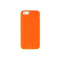 Чехол Melkco Silikonovy для iPhone 6 силиконовый (orange) + пленка