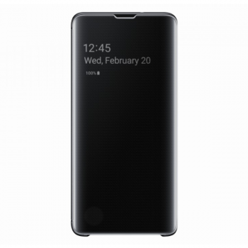 Чехол Samsung Clear View Cover для S10,черный (EF-ZG973CBEGRU)