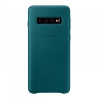 Чехол Samsung Leather Cover для S10,зеленый (EF-VG973LGEGRU)