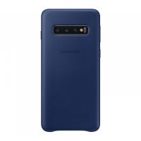 Чехол Samsung Leather Cover для S10,темно-синий (EF-VG973LNEGRU)