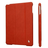 JisonCase vintage real leather для iPad Air (red) Натуральная Кожа