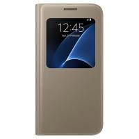 Чехол Samsung S View Cover EF-CG930PFEGRU для Galaxy S7 золотой