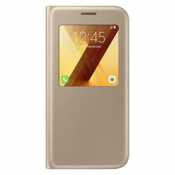 Чехол для Samsung Galaxy A7 (2017) S View Standing Cover EF-CA720PFEGRU (золотой)