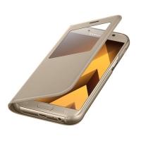Чехол для Samsung Galaxy A5 (2017) S View Standing Cover EF-CA520PFEGRU (золотой)