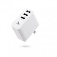 Сетевая зарядка Hoco C1 Travel Charger with 3 USB