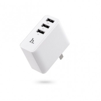 Сетевая зарядка Hoco C1 Travel Charger with 3 USB