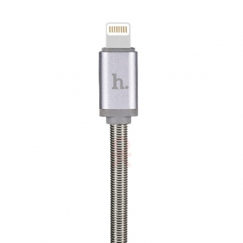 Кабель USB Hoco U5 для iPhone, iPad (в металлической оплетке)
