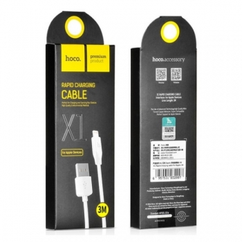 USB кабель для iPhone, iPad - Hoco X1 Rapid Charging cable (3m)