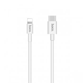 Кабель USB Hoco X15 Quick Type C to Lightning (белый)