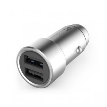 Автомобильная зарядка Xiaomi Mi Car на 2 USB серебряная (CZCDQ01ZM/A)