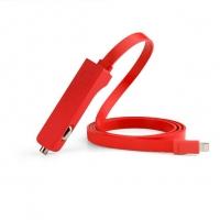 Автомобильная зарядка TYLT RIBBN Lightning 4.8A для iPhone, iPad (red)