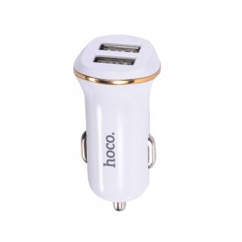 Автомобильная зарядка Hoco Z1 Dual USB 2.1A (белая)
