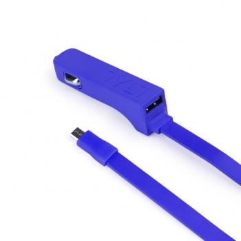 Автомобильная зарядка TYLT RIBBN micro USB 4.8A (blue)
