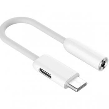 Переходник для наушников и зарядки ZMI AL711 USB-C - audio 3.5mm, белый